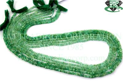 Emerald Faceted Roundel (Quality B)
