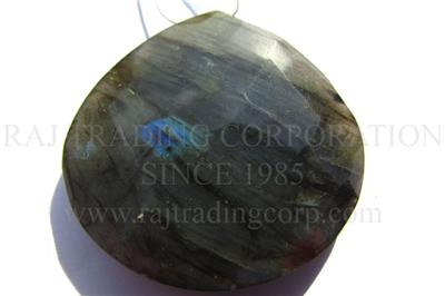 Labradorite Faceted Heart (Quality B)