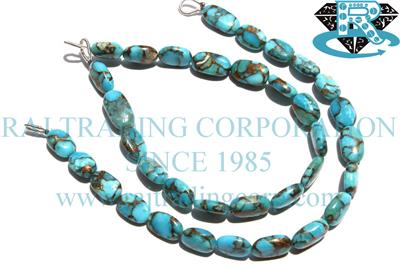 Blue Copper Turquiose Smooth Oval (Quality AA+)