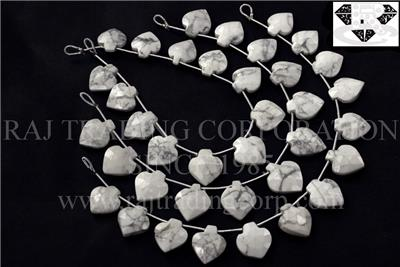 White Howlite Faceted Apple (Quality AAA)