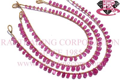 Pink Sapphire Faceted  Drops (Quality AA)