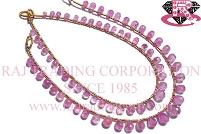 Pink Sapphire Faceted  Drops (Quality A)