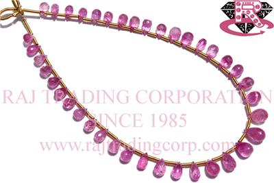 Pink Sapphire Faceted  Drops (Quality A+)