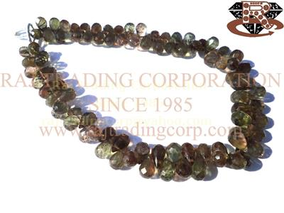 Andalusite Faceted Drops (Quality AAA)