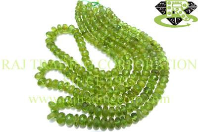 Peridot Faceted Roundel (Quality C)