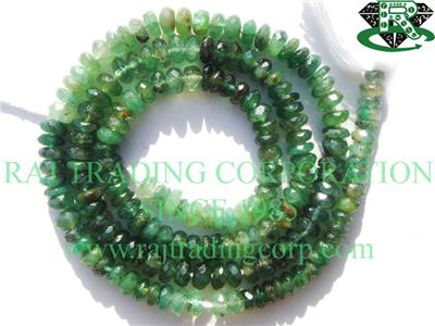 Emerald Faceted Roundel (Quality C)