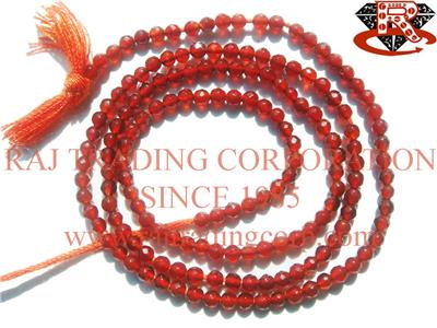 Carnelian Faceted Roundel (Quality AAA)