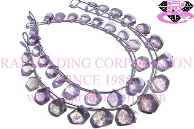 Pink Amethyst Faceted Pentagon (Quality C)