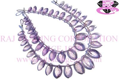 Pink Amethyst Faceted Marquise (Quality C)