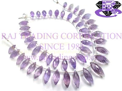 Amethyst (Light) Faceted Dew Drops (Quality A)