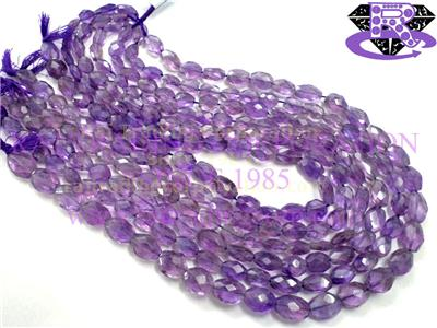 Amethyst (Light) Faceted Oval (Quality A+)