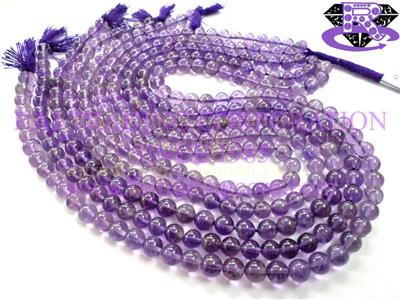 Amethyst (Light) Smooth Round (Quality A+)