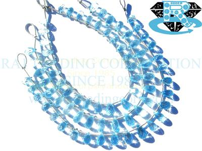 Sky Blue Topaz Faceted Drops (Quality AAA)