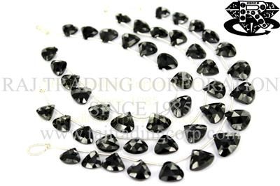 Black Spinel Faceted Triangle (Quality AAA)