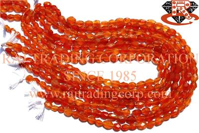 Carnelian Faceted Oval (Quality A)
