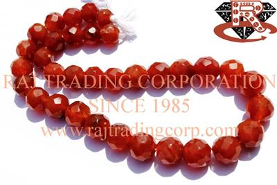 Carnelian Faceted Round (Quality B)