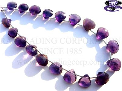 Amethyst (African) Faceted Heart (Quality A)