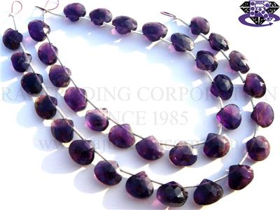 Amethyst (African) Faceted Heart (Quality A+)