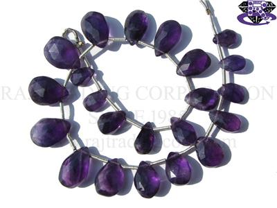 Amethyst (African) Faceted Pear (Quality B)