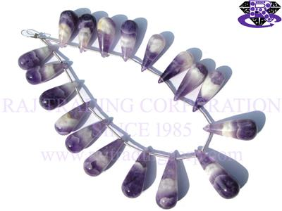 Amethyst Chevron Smooth Drops (Quality A+)