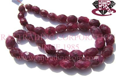 Ruby (Color Enhanced) Faceted Oval (Quality A)