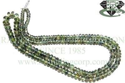 Green Sapphire Faceted Roundel (Quality A+)