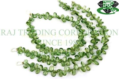 Green Apatite Faceted Pear (Quality AA)