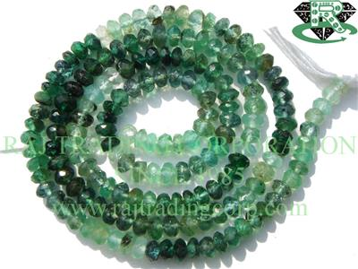 Emerald Shaded Faceted Roundel (Quality B)