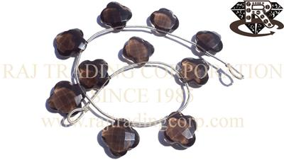 Smoky Quartz Faceted Flower (Quality AA+)