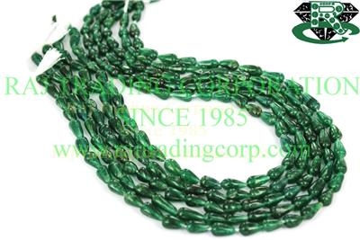 Green Aventurine Smooth Drops (St.Drill) (Quality A)
