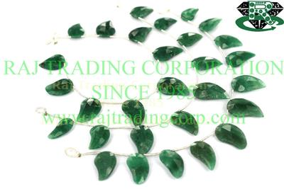 Green Aventurine Faceted Mango (Quality A)