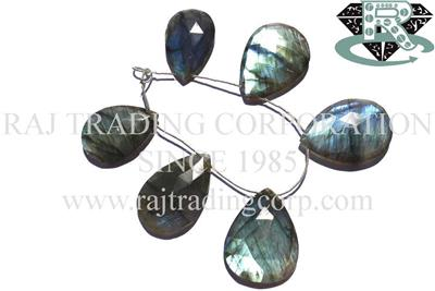 Labradorite Faceted Focal Pear Pendant (Quality A+)