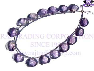Amethyst (Light) Faceted Pentagon (Quality A+)