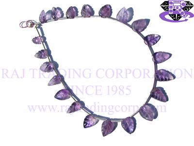 Amethyst (Light) Caved Leaf (Quality A)