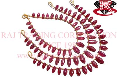 Ruby (Lead Filled) Smooth Marquise (Quality A+)