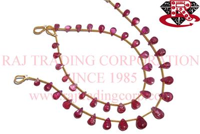 Ruby (Lead Filled) Faceted Pear (Quality A)