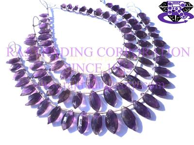 Amethyst (African) Faceted Marquise (Step Cut) (Quality A)