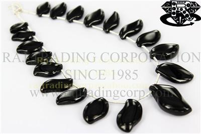 Black Spinel Smooth S-Shape (Quality AAA)