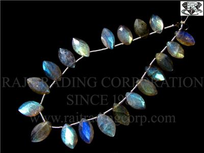 Labradorite Faceted Marquise (Quality A)