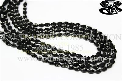 Black Spinel Faceted Pear (St. Drill) (Quality AAA)