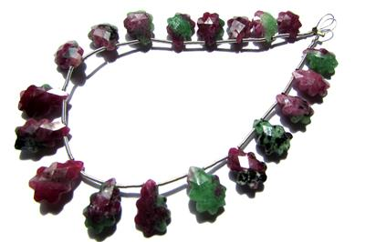 Ruby Zoisite Faceted Christmas Tree (Quality AA)